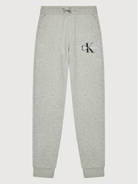 Calvin Klein Jeans Calvin Klein Jeans Pantaloni trening Monogram Logo IB0IB00944 Gri Regular Fit