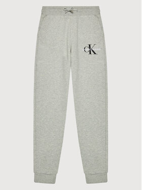 Calvin Klein Jeans Calvin Klein Jeans Spodnie dresowe Monogram Logo IB0IB00944 Szary Regular Fit