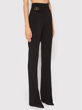 Elisabetta Franchi Elisabetta Franchi Pantalon en tissu PA-385-16E2-V290 Noir Slim Fit