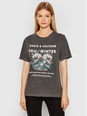 Zadig&Voltaire Zadig&Voltaire Футболка Bella Compo Rock Skull WKTS1807F Сірий Regular Fit