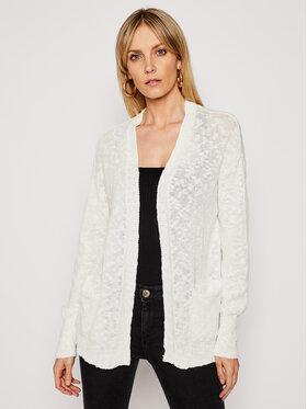Roxy Roxy Kardigan Valley Shades ERJSW03391 Biały Regular Fit