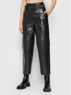 Gestuz Gestuz Spodnie skórzane Storiagz 10904984 Czarny Loose Fit