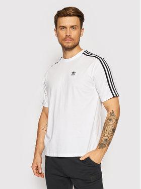 adidas adidas T-Shirt Aadicolor Classics H37796 Biały Oversize