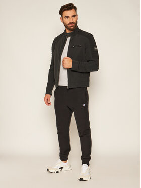 Calvin Klein Calvin Klein Bunda pro přechodné období Casual Biker K10K105600 Černá Regular Fit