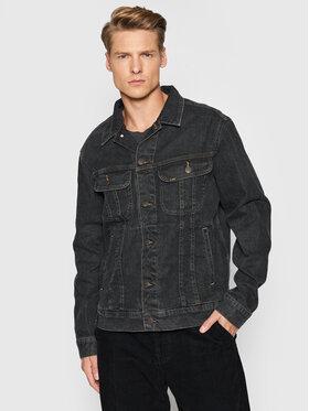 Lee Lee Kurtka jeansowa Rider L89ZOR47 Czarny Regular Fit