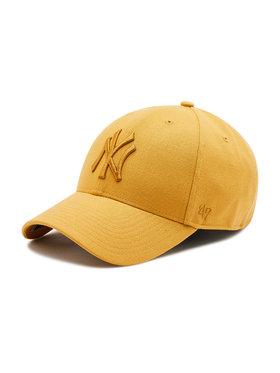 47 Brand 47 Brand Czapka z daszkiem New York Yankees B-MVPSP17WBP-WEA Żółty