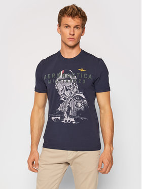 Aeronautica Militare Aeronautica Militare T-shirt 212TS1913J469 Bleu marine Regular Fit