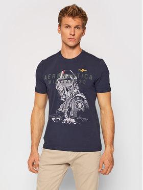 Aeronautica Militare Aeronautica Militare T-Shirt 212TS1913J469 Granatowy Regular Fit