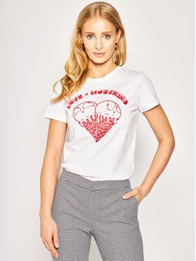 LOVE MOSCHINO LOVE MOSCHINO T-shirt W4F7365M 3876 Bianco Regular Fit