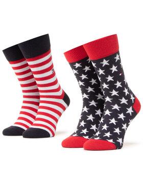 Tommy Hilfiger Tommy Hilfiger Sada 2 párů dámských vysokých ponožek 100000816 Barevná