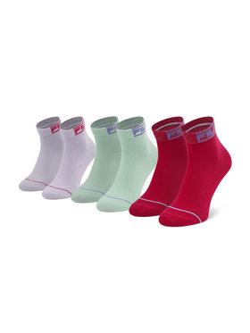 Fila Fila Σετ 3 ζευγάρια ψηλές κάλτσες γυναικείες Calza F6101 Έγχρωμο
