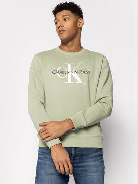 Calvin Klein Jeans Calvin Klein Jeans Μπλούζα Monogram Logo J30J314692 Πράσινο Regular Fit