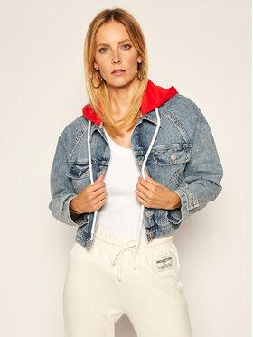 Tommy Jeans Tommy Jeans Geacă de blugi Hoodie Mmbrg DW0DW08654 Albastru Cropped Fit