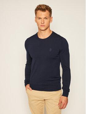 Trussardi Jeans Trussardi Jeans Sweter 52M00343 Granatowy Slim Fit