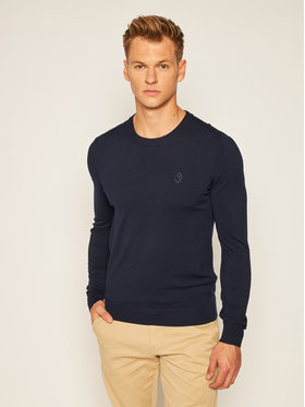 Trussardi Trussardi Sweater 52M00343 Sötétkék Slim Fit