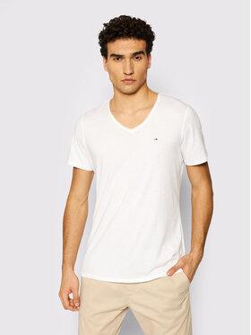 Tommy Jeans Tommy Jeans T-Shirt Tjm Jaspe DM0DM09587 Bílá Slim Fit