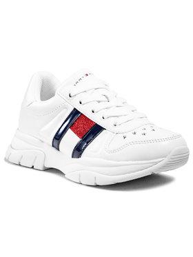 Tommy Hilfiger Tommy Hilfiger Sneakersy Low Cut Lace-Up Sneaker T3A4-31032-0813100 M Biały