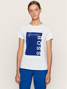 Boss Boss Tricou C-Ewoman 50436768 Alb Regular Fit