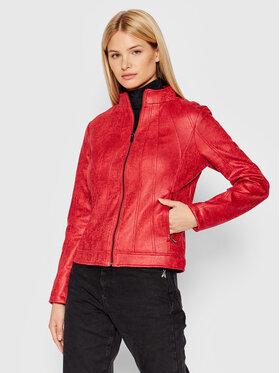 Desigual Desigual Jacke aus Kunstleder Comaruga 21WWEW28 Rot Slim Fit