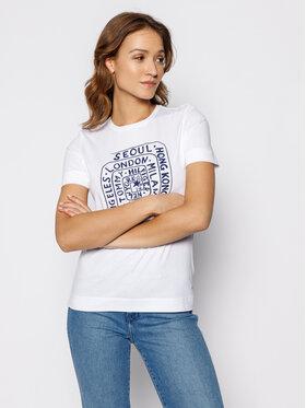 TOMMY HILFIGER TOMMY HILFIGER T-Shirt Carla WW0WW25173 Biały Regular Fit