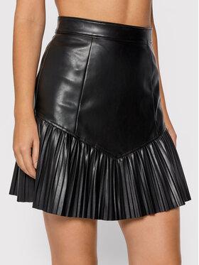 Guess Guess Sukňa z imitácie kože Elisabeth W1BD09 KAWP0 Čierna Regular Fit
