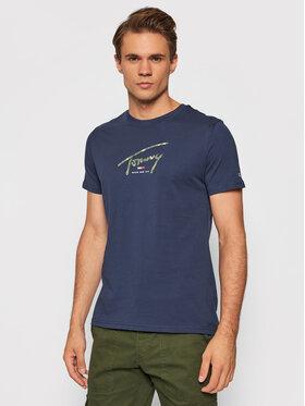 Tommy Jeans Tommy Jeans T-Shirt Tjm Hand Written Linear Logo DM0DM10945 Granatowy Regular Fit