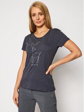 Salewa Salewa T-Shirt Deer 27848 Dunkelblau Regular Fit