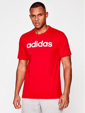 adidas adidas Tricou E Lin Tee FM6223 Roșu Standard Fit