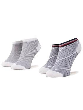 TOMMY HILFIGER TOMMY HILFIGER Sada 2 párů dámských nízkých ponožek 320302001 Tmavomodrá