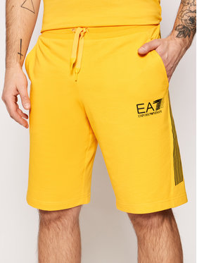 EA7 Emporio Armani EA7 Emporio Armani Športové kraťasy 3KPS67 PJ05Z Žltá Regular Fit