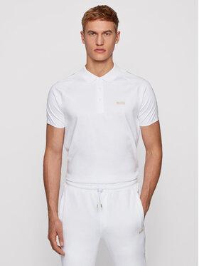 Boss Boss Polo marškinėliai Paul Gold 50448654 Balta Slim Fit