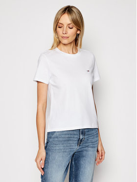 Tommy Jeans Tommy Jeans T-Shirt C Neck DW0DW09198 Bílá Regular Fit