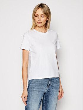 Tommy Jeans Tommy Jeans T-Shirt C Neck DW0DW09198 Λευκό Regular Fit