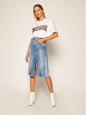 MSGM MSGM Jeans suknja 2941MDD46L 207725 Plava Regular Fit