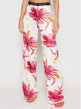 Guess Guess Текстилни панталони E1GB00 K4JZ0 Цветен Regular Fit