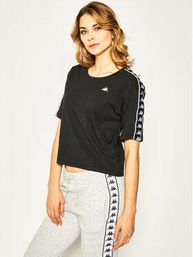 Kappa Kappa T-Shirt Glanda 307066 Czarny Loose Fit