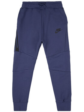 NIKE NIKE Spodnie dresowe Big Kids' Tech Fleece 804818 Fioletowy Slim Fit