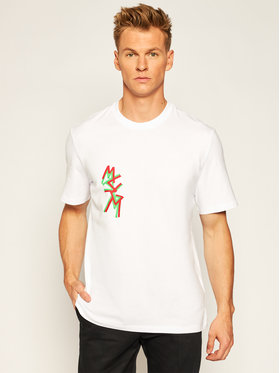 MSGM MSGM T-Shirt 2940MM70 207598 Biały Regular Fit