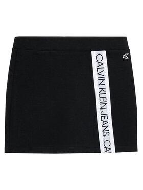 Calvin Klein Jeans Calvin Klein Jeans Fustă Logo Tape Punto IG0IG00951 Negru Regular Fit