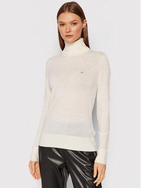 Calvin Klein Calvin Klein Bluză cu gât Merino Roll K20K203202 Bej Slim Fit