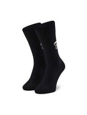 KARL LAGERFELD KARL LAGERFELD Vysoké pánske ponožky 805504 Čierna