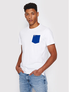 Tommy Jeans Tommy Jeans T-Shirt Contrast Pocket Λευκό Regular Fit