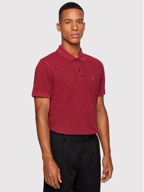 Boss Boss Тениска с яка и копчета Prime 50378365 Бордо Slim Fit