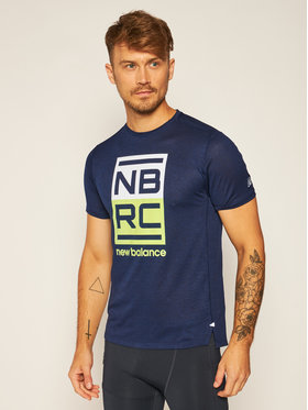 New Balance New Balance Maglietta tecnica Printed Impact Run MT01235 Blu scuro Athletic Fit