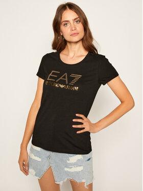 EA7 Emporio Armani EA7 Emporio Armani Тишърт 6HTT26 TJ12Z 1200 Черен Regular Fit
