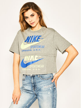 NIKE NIKE T-Shirt Sportswear CJ2040 Grau Loose Fit