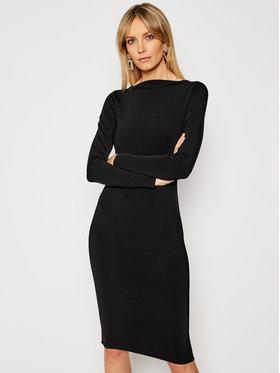 TwinSet TwinSet Koktejlové šaty 202TP3148 Černá Slim Fit