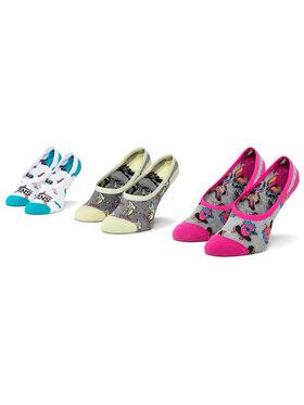 Vans Vans Súprava 3 párov krátkych detských ponožiek Wm Skate Fruit Canoodle VN0A4S8M4481 r. 31,5-36 Sivá