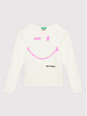 United Colors Of Benetton United Colors Of Benetton Bluză 3096C15DY Alb Regular Fit