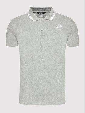 New Balance New Balance Тениска с яка и копчета Classic MT01983 Сив Regular Fit
